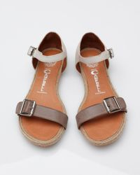 Jeffrey Campbell   Gray Azores Sandal in Grey and Ivory   Lyst