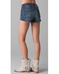 Joe's Jeans - Blue High Waist Cutoff Shorts - Lyst