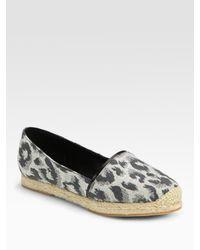 3.1 Phillip Lim | Gray Espie Leopard-print Espadrille Loafers | Lyst