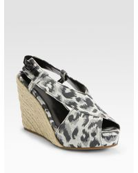 3.1 Phillip Lim | Gray Cotton and Jute Espadrille Wedges | Lyst