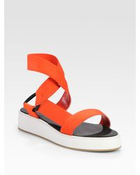 3.1 Phillip Lim | Red Brooks Elastic Cross-band Sandals | Lyst