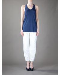 T By Alexander Wang | Blue Iris Vest Top | Lyst