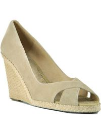 Andre Assous | Brown Mel - Taupe Suede Wedge Espadrille Pump | Lyst