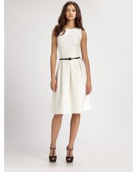 David Meister | White Belted Dance Dress | Lyst