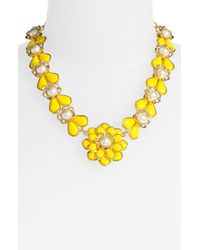 kate spade new york | Yellow Sweet Zinnia Floral Pendant Necklace | Lyst