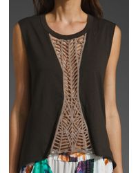 Sass & Bide   Black The New Renaissance Lace Panel Tee   Lyst