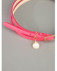Stella McCartney - Pink Faux Leather Belt - Lyst