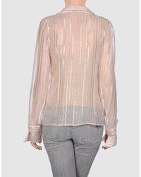 Stella McCartney - Natural Long Sleeve Shirt - Lyst