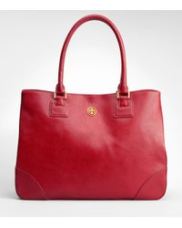 Tory Burch | Red Robinson Tote | Lyst