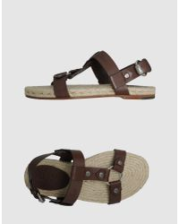 Gucci | Brown Espadrille Sandals for Men | Lyst