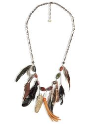 Antik Batik | Brown Stone and Leather Necklace | Lyst