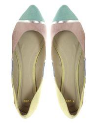 ASOS - Multicolor Asos Lula Pastel Colour Block Ballet Flats - Lyst