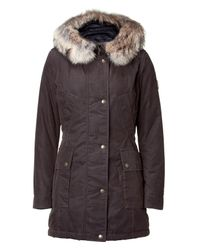Belstaff | The Padstow Brown Lady Parka with Fur Collar | Lyst