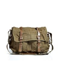 Belstaff | Natural Military Green Large Shoulder Bag 554 for Men | Lyst