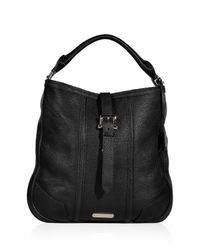 Burberry | Black Aldridge Hobo Bag | Lyst