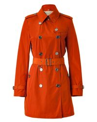 Burberry Brit | Burnt Orange Short Trench Coat | Lyst