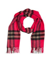 Burberry | Pink Sweet Pea Giant Check Scarf | Lyst
