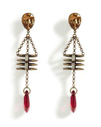 DANNIJO | Purple The Tyler Citrine/magenta Swarovski Crystal Earrings | Lyst