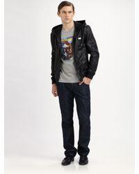 Dolce & Gabbana | Black Hooded Bomber Jacket for Men | Lyst