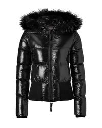 Duvetica | The Tersicore Black Hooded Down Jacket | Lyst