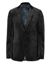 Etro - Black Two Button Corduroy Jacket for Men - Lyst
