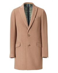 Etro | Natural Camel Wool Cashmere Coat for Men | Lyst