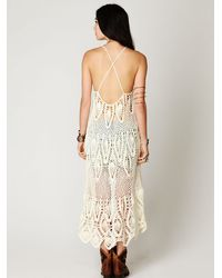 Free People | White Bella Donna Dress | Lyst