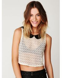 Free People - White Peter Pan Lace Top - Lyst