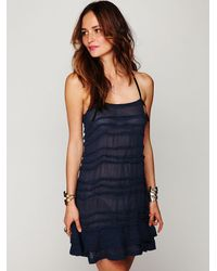 Free People - Blue Fp One Poison Pintuck Slip - Lyst