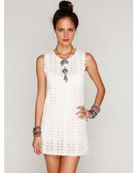 Free People - White Thrifty Eyes Dress - Lyst