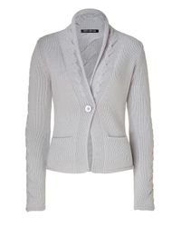 Iris Von Arnim | Gray Cement One-button Cashmere Cardigan | Lyst