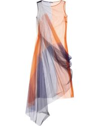 Jil Sander | Orange Color-block Tulle Dress | Lyst