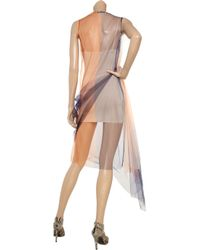 Jil Sander | Orange Color-block Tulle Dress | Lyst