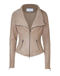 Jitrois | Natural Warm Beige Tailored Stretch Leather Jacket | Lyst