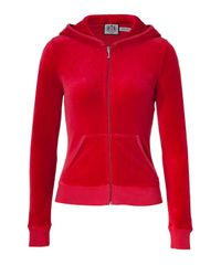 Juicy Couture | Red Velour Hoodie | Lyst