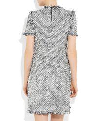 Lanvin | Black Frayed Tweed Dress | Lyst