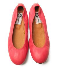Lanvin - Pink Classic Ballet Flat - Lyst