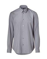 DKNY | Gray Silk Blouse - Blue for Men | Lyst
