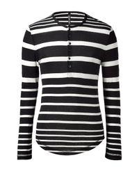 Neil Barrett | Black/white Striped L/s T-shirt for Men | Lyst