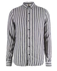 Nudie Jeans   Allan Blue Shirt for Men   Lyst