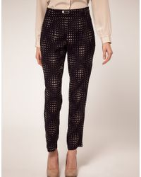 Oasis - Brown Heart Trousers - Lyst