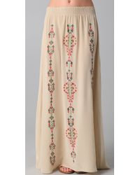 Parker | Natural Native Embroidery Skirt | Lyst