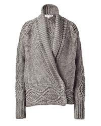 Paul & Joe | Gray Grey Mélange Knit Loose Cardigan | Lyst