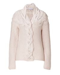 Paul & Joe | Natural Nude Cable Knit Cardigan | Lyst