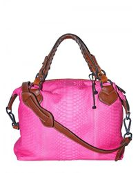 Pauric Sweeney - Pink Overnight Python Shoulder Bag - Lyst