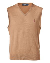 Polo Ralph Lauren | Rye Brown Heather New Geelong V-neck Vest for Men | Lyst