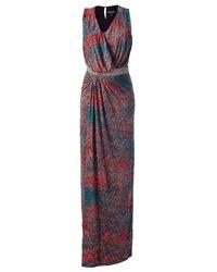 Saloni | Multicolor Multi-colored Beaded Maxi-dress - Red | Lyst