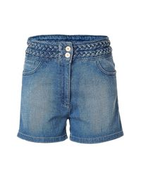 Sandro | Poppins Blue High-waisted Denim Shorts | Lyst
