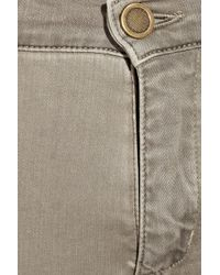 Superfine | Brown Superswirl Leather-stitched Mid-rise Skinny Jeans | Lyst