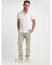 Theory | White Feynold Wealth Shirt for Men | Lyst